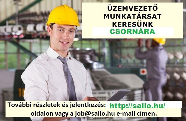 PLANT MANAGER (Csorna)