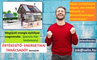 ÉRTÉKESÍTŐ – ENERGETIKAI TANÁCSADÓ (Budapest, országos)